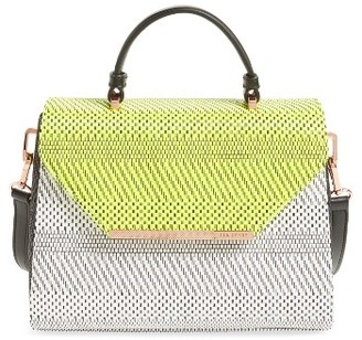 Ted Baker London Woven Straw Top Handle Satchel - Green $179 thestylecure.com