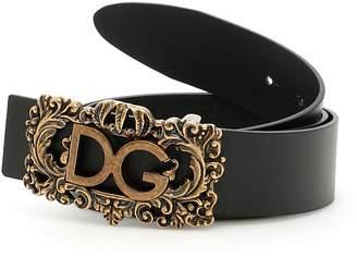 Dolce & Gabbana Lux Leather Logo Belt