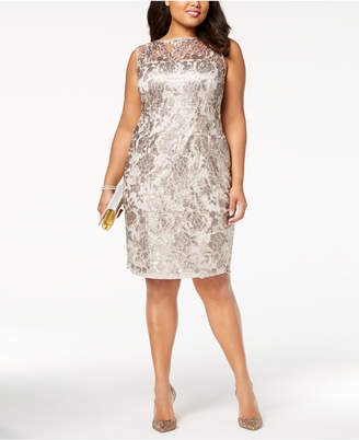 Adrianna Papell Plus Size Sequined Lace Dress