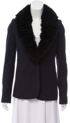 Elizabeth and James Fur Button-Up Jacket