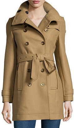 Burberry Brit Daylesmoore Wool-Blend Zip-Pocket Trench Coat $1,095 thestylecure.com