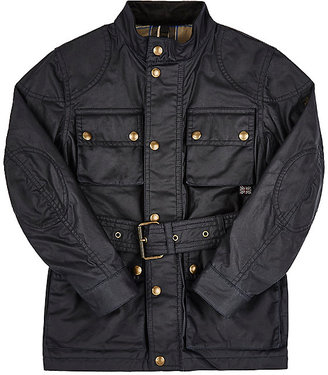 Belstaff Coated-Cotton Belted Jacket $550 thestylecure.com