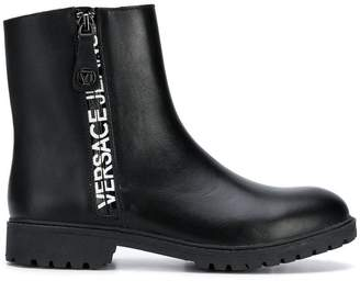 Versace branded ankle boots