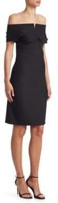 Helmut Lang Off-The-Shoulder Sheath Dress