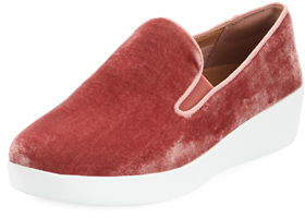 FitFlop Superskate Velvet Slip-On Sneakers