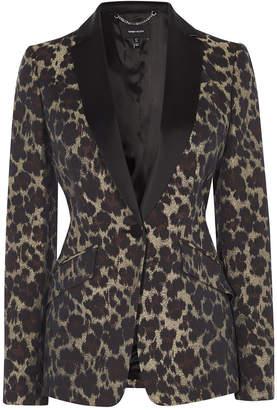 Karen Millen Leopard Jacquard Blazer