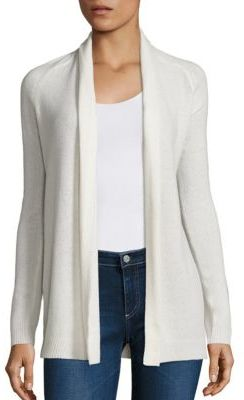 Theory Ashtry J Open-Front Cashmere Cardigan $345 thestylecure.com
