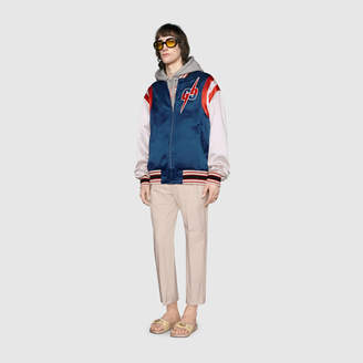 Gucci Acetate bomber jacket with GG Blade