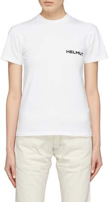 Helmut Lang 'In Lang We Trust' slogan print T-shirt