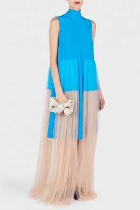 DELPOZO Tulle Bicolor Dress