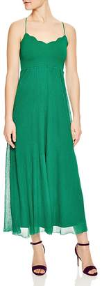 Sandro Roxana Scalloped Maxi Dress