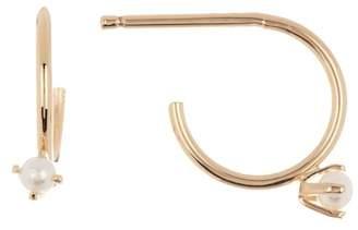 Nordstrom Rack 3mm Pearl Huggie Hoop Earrings