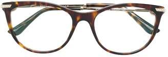 Bulgari tortoiseshell round glasses