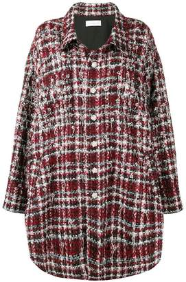 Faith Connexion embellished checked coat