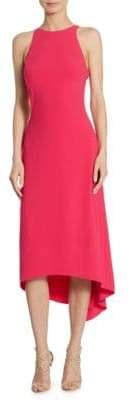 Halston Sleeveless Crepe Dress