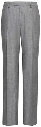 Banana Republic Standard Gray Pinstripe Italian Cotton Suit Pant