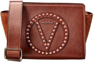 Mario Valentino Valentino By Kiki Rock Dollaro Leather & Suede Shoulder Bag