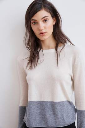 Velvet by Graham & Spencer ROZALIE CASHMERE COLORBLOCK SWEATER