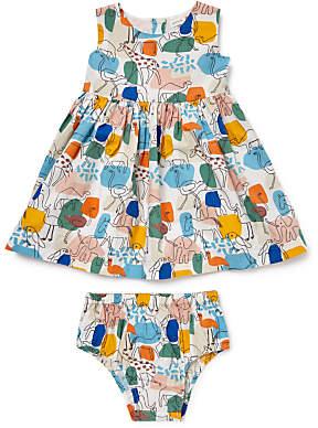 John Lewis Jungle Print Dress and Knickers Set, Multi