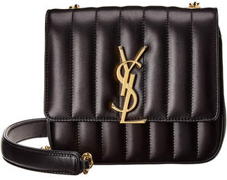 Saint Laurent Vicky Small Matelasse Leather Crossbody