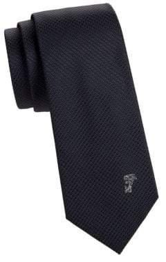 Versace Textured Dotted Silk Tie