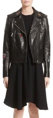 Women's Belstaff Mariner Marving-T Leather Moto Jacket $1,995 thestylecure.com