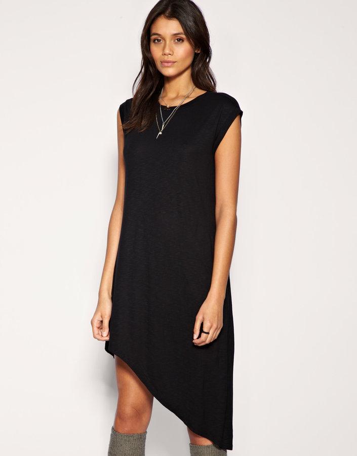 Just Female Dress Asymmetric Jersey Tunic Dress