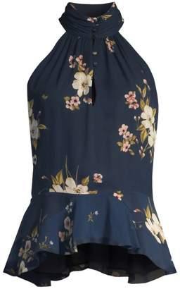 Joie Abbigayl Floral Halterneck Top