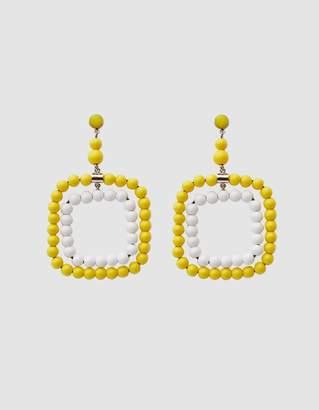Marni Beaded Earrings in Yellow