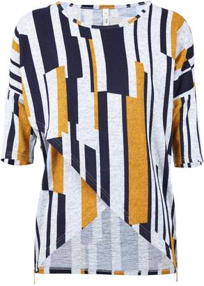 Dorothy Perkins Womens *Izabel London Multi Coloured Stripe Cross Front Top