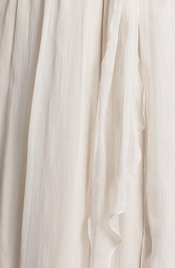 Amsale Ruched One-Shoulder Chiffon Gown