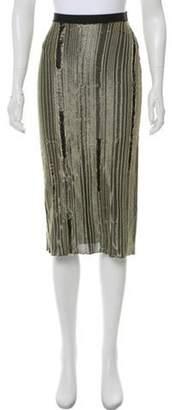 Maison Margiela Metallic Midi Skirt Gold Metallic Midi Skirt