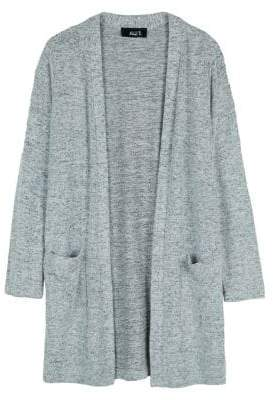 Ally B Girl's Textured Open-Front Cardigan