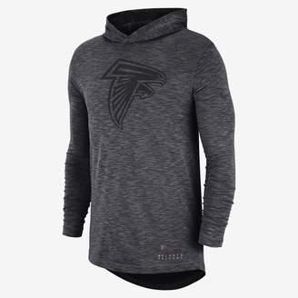 Nike NFL Falcons) Men's Hooded Long Sleeve Top