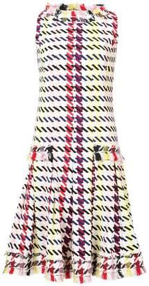 Oscar de la Renta graphic-print fringed flared dress