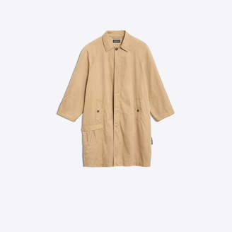 Balenciaga Creased technical cotton trench coat