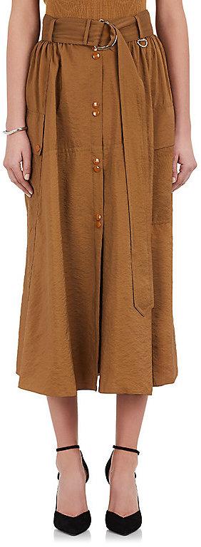 Nina RicciNina Ricci Women's Snap-Front Belted Midi-Skirt