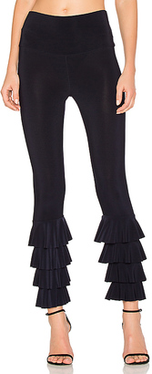 Norma Kamali Ruffle Legging in Navy $225 thestylecure.com