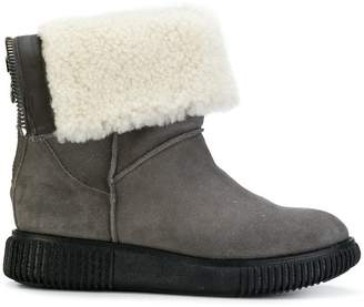 Moncler shearling cuffed boots