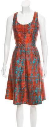 Oscar de la Renta Silk-Blend Dress