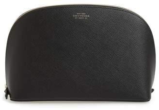Smythson Medium Leather Cosmetics Bag