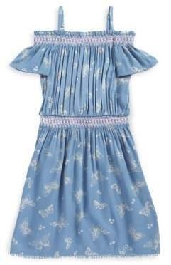 Jessica Simpson Girl's Cold-Shoulder Dress
