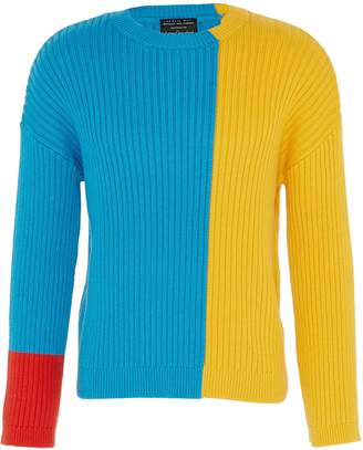 Charlie May x Achilles Ion Gabriel Colourblock chunky knit unisex sweater