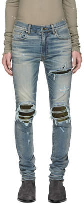 Amiri Indigo MX1 Camo Jeans