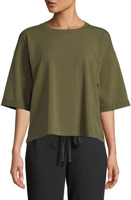 Eileen Fisher Half-Sleeve Jersey Top, Plus Size