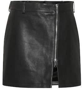 Burberry Leather miniskirt