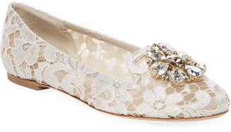 Dolce & Gabbana Taomina Lace Slipper