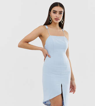 Missguided Peace And Love Low Back Cami Strap Dress