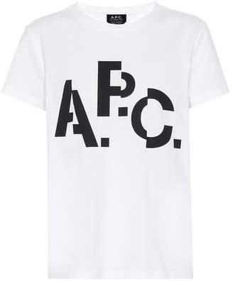 A.P.C. Misaligned cotton T-shirt