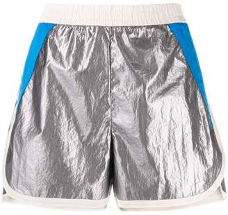 8pm Metallic Track Shorts